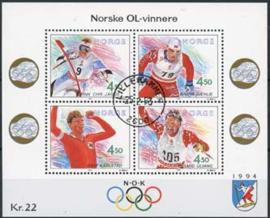 Noorwegen, michel blok 19, o