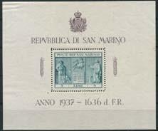 S.Marino, michel blok 1, x
