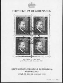 Liechtenstein, michel blok 3, o
