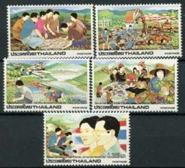 Thailand, michel 1079/83, xx