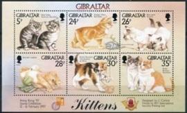 Gibraltar , michel blok 27 , xx