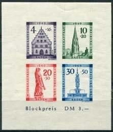 Baden, michel blok 1 B, xx