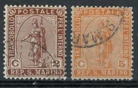 S.Marino, michel 32/33, o