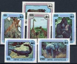 Centrafricain, michel 532/37, xx