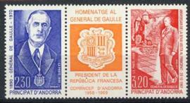 Andorra Fr., michel 418/19, xx