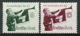 Duitse Rijk, michel 584/85, xx