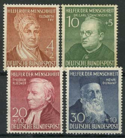 Bundespost, michel 156/59, xx