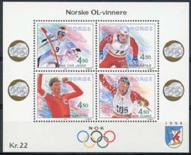 Noorwegen, michel blok 19, xx