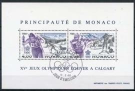 Monaco , michel blok 38 , o