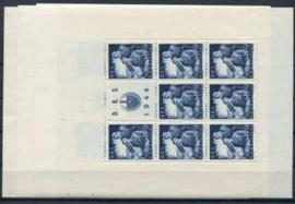 Kroatie, michel kb 162/66, xx