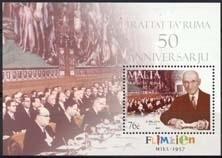 Malta , michel blok 40 , xx