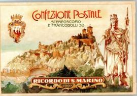 San Marino, michel blok 43/45 speciaal map