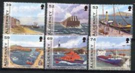 Alderney, michel 459/64, xx