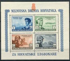 Kroatie, michel blok 5 A, xx