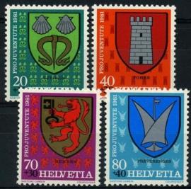 Zwitserland, michel 1210/13,xx