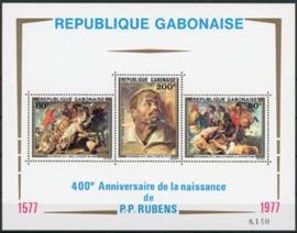 Gabon, michel blok 32, xx
