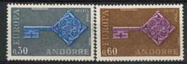 Andorra Sp., michel 208/09, xx