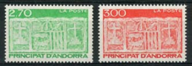 Andorra Fr., michel 493/94, xx