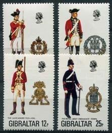 Gibraltar, michel 338/41, xx