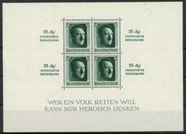 Duitse Rijk, michel blok 9, xx