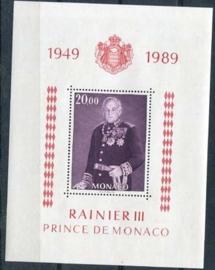 Monaco , michel blok 43 , xx