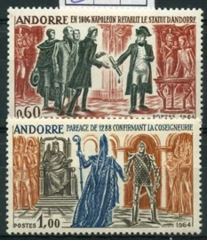 Andorra Fr., michel 183/84 , xx