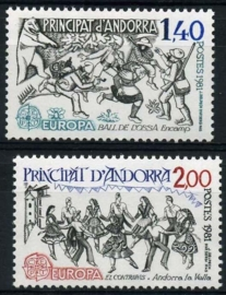 Andorra Fr., michel 313/14, xx