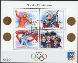 Noorwegen, michel blok 12, o