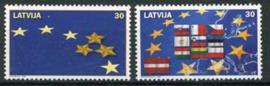 Letland, michel 611/12, xx