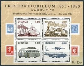 Noorwegen, michel blok 3, xx