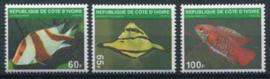 Ivoorkust, michel 636/38, xx