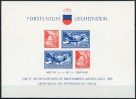 Liechtenstein, michel blok 2 , xx