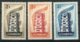 Luxemburg, michel 555/57, xx