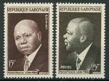 Gabon, michel 151/52, xx