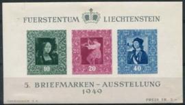 Liechtenstein, michel blok 5,x