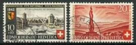 Zwitserland, michel 408/09, o