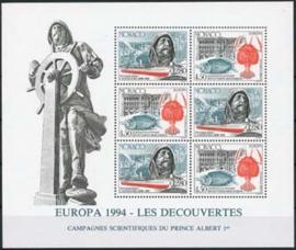 Monaco, michel blok 63, xx