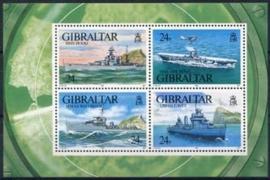 Gibraltar , michel blok 18 , xx