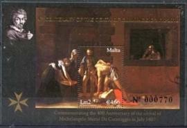 Malta , michel blok 38 I , xx