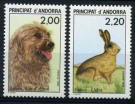 Andorra Fr., michel 394/95, xx