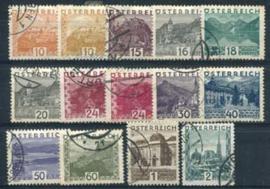 Oostenrijk, michel 498/511, o , lees