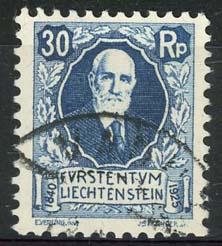 Liechtenstein, michel 74, o