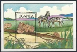 Uganda, michel blok 96, xx