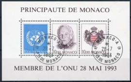 Monaco, michel blok 60, o