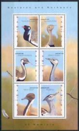 Namibie, michel kb 1346/51, xx