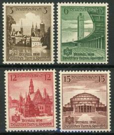 Duitse Rijk, michel 665/68, xx