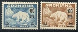 Groenland, michel 37/38 , xx