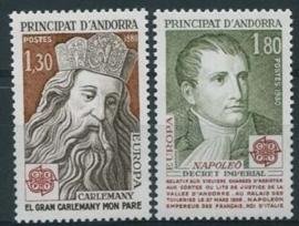 Andorra Fr., michel 305/06, xx