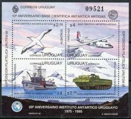 Uruguay , michel blok 69, xx , lees
