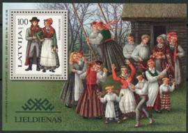 Letland, michel blok 10, xx